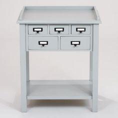 Gray 5-Drawer Preston Table