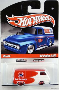 Hot Wheels /'56 Ford Pickup Truck Loose 1:64 Blue w// Flames