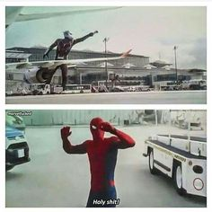 Spiderman's reaction to Giant-Man!!! lol