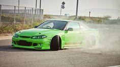 green cars tuning Nissan Silvia S15 JDM Japanese domestic market