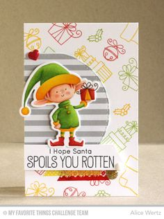 Santa's Elves, Santa's Elves Die-namics, Stitched Arch STAX Die-namics - Alice Wertz  #mftstamps