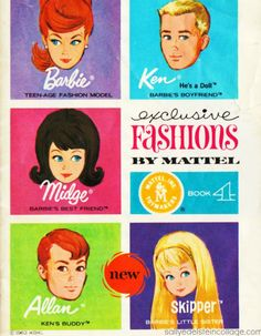 1963 Mattel Booklet BL - Exclusive Fashions by Mattel - Book 4 Front