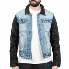Sixth June - Simili Sleeves Denim Jacket Blue
