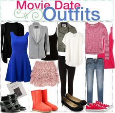 """Movie Date Outfits"" by just-girly-tips ❤ liked on Polyvore"
