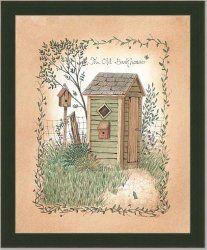 Old Backhouse Outhouse Bath Room Decor Art Print Framed | Framed Art by Tilliams - via http://bit.ly/epinner