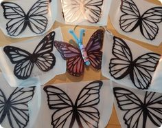 Recycled-Art Birthday Party.  Craft #3 - Milk Jug Butterflies