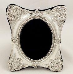 antique edwardian sterling silver photo frame 1908