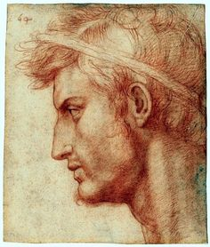 Study for the Head of Julius Caesar Artist:Andrea del Sarto (Andrea d'Agnolo) (Italian, Florence Florence) Date:ca. Medium:Red chalk Dimensions:Sheet: 8 x 7 in. x cm) Classification:Drawings Julius Caesar, Michelangelo, Life Drawing, Figure Drawing, Painting & Drawing, Renaissance Kunst, High Renaissance, Classical Art, Old Master