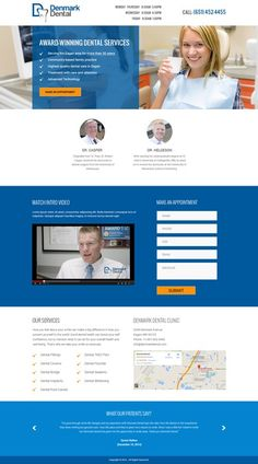 Dentist is looking for a landing page design for patients! by RutVish
