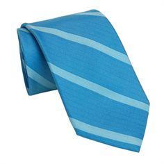 Calvin Klein Parkside Striped Woven Silk Tie #VonMaur #CalvinKlein #Blue #Striped #Mens