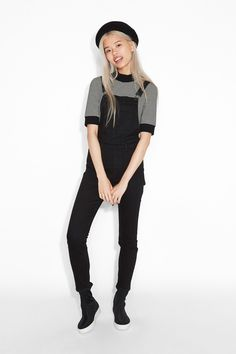 Stretch dungarees from Monki   Follow me for more asataa pawl