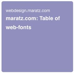 Most used web fonts.