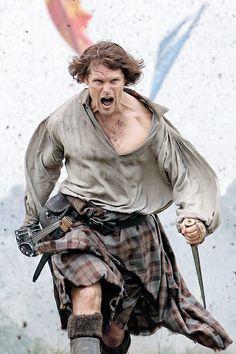 """outlander-news: """" Sam Heughan as Jamie Fraser   Outlander Season 3   Entertainment Weekly """""""