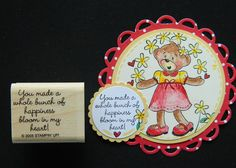 RARE Stampin up stamp YOU MAKE A WHOLE BUNCH OF HAPPINESS BLOOM IN MY HEART su