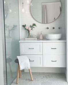 """232 Likes, 25 Comments - Jacci Kelly (@jaccikelly) on Instagram: """"New ensuite pretties and shuffle round #interiorstyling #ensuite #bathroom #subwaytiles…"""""""