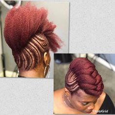 Natural Updo, Natural Styles, Updos, Dreadlocks, Hair Styles, Beauty, Natural Hairstyles, Up Dos, Hair Plait Styles