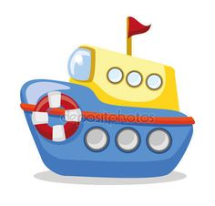 Yükle - Karikatür gemi — Stok İllüstrasyon #49227153