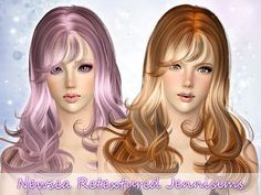 Jennisims: Downloads sims 3:Newsea hair Joanna retextured All Ages