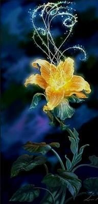 Once upon a time...a single drop of sunlight fell from the heavens...and from this small drop of sun...grew a magic golden flower-Tangled.