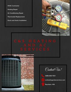 Are you having trouble keeping your home cool? Are you prepared for the cold winter nights? C&S Heating and AC Services offers superior air conditioning and heating services. Whether you need an energy efficient central air installed in your new home build or your furnace needs professional repair because it makes a strange sound, we have got you covered. #CAndSHeatingAndACServices We're Located at Raynham, MA United States. Call Us (508) 840-7551 Website: www.cnsheatingandacservices.com