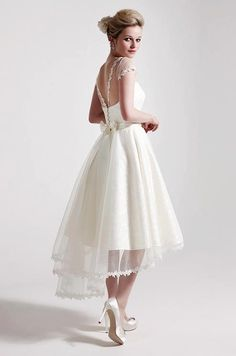 Pretty tea length dress SIMPLE BUT CAN BE ACCESSORIZED!