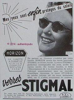 57f2a5bbc4724 Publicite stigmal lunettes de soleil horizon lunetier de 1939 french ad  glasses