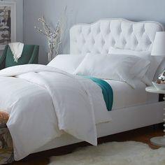 Lindsay Velvet Upholstered Bed in White 495
