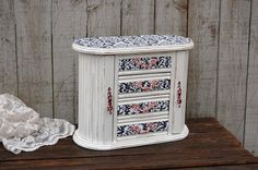 Jewelry Armoire Shabby Chic Jewelry Box by TheVintageArtistry
