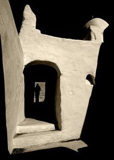 Mosque in Ghadames old town, Libya by Eric Lafforgue