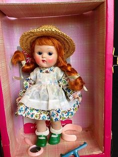 1954 Vogue Ginny - Mint in Rich Uncle Trunk Walker - Doll All Original