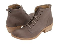 Frye Carson Lace Up Grey Soft Leather - 6pm.com