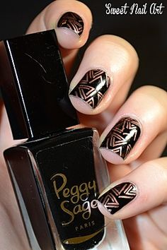 I wish I knew how to do these Aztec Nails