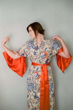 The Haiku. One custom robe in lined cotton trimmed