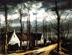 MAURICE DE VLAMINCK (1876-1958): VILLAGE STREET