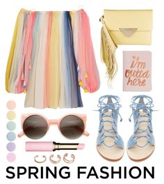 """Spring Dress Fashion"" by stacey-lynne ❤ liked on Polyvore featuring Chloé, Cornetti, Sara Battaglia, ban.do, Clarins, Deborah Lippmann and Kendra Scott"