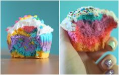 The Dainty Squid: Colorful Cupcakes - A Tutorial