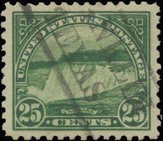 Gradedstamps.com has this item on Collectors Corner - Scott# 568, 1922 25c Yellow green, PSE Superb 98J, Used
