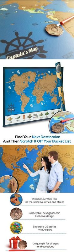 Other travel maps 164807 scratch off world map poster includes other travel maps 164807 scratch off world map poster includes memory stickers perfect for travelers buy it now only 4085 on ebay gumiabroncs Image collections