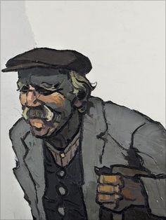 Sir Kyffin Williams' portrait of his close friend Thomas Jones from Anglesey