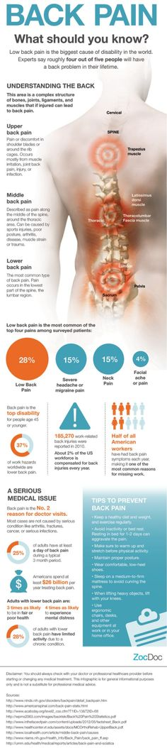 Back Pain 101 Infographic! I have back pain everyday!!