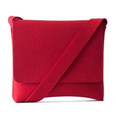 Red Felt Messenger bag