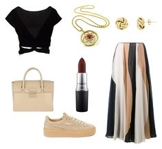 """Untitled #33"" by engineeringmalak ❤ liked on Polyvore featuring Roksanda, Puma, Furla and MAC Cosmetics"