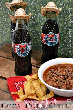 Warm up with a big bowl of Coca Cola Chili!  Thick and rich in flavor.  The cocoa cola adds a depth of flavor {not cola}. This Coca Cola Chili can be made on a stove top or in a slow cooker.