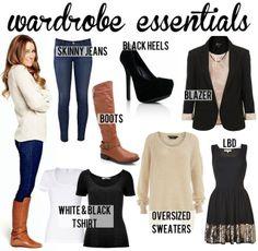 more wardrobe essentials