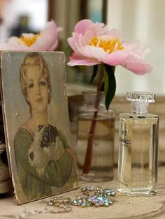 Vintage romántico con flores