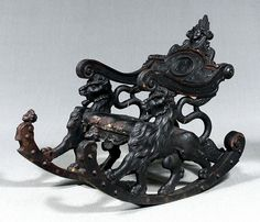 Fearsome beasts beckon from this Baroque carved rocking chair. Gothic Furniture, Black Furniture, Funky Furniture, Antique Furniture, Swinging Chair, Rocking Chair, Patterned Armchair, Comfortable Office Chair, Italian Baroque