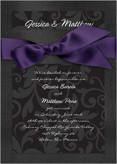 Stationery, purple, black, Invitations, Bridal, Davids