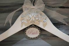 Bride Hanger, Wedding Dress Hanger, Custom Color Personalization, Bridesmaid Hanger, White Wedding Dress Hanger, Wedding Gown Hanger, Shower
