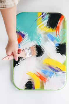 For the Makers: DIY Abstract Painterly Tray