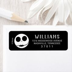 Nightmare Before Christmas First Birthday Label